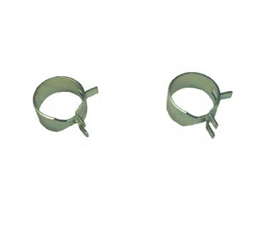 Primer Bulb Pump Hose Pipe Clips x 2, Kawasaki TD18, TD018D, TD33, TD033D, TD033DX Engine, Trimmer, Brush Cutter